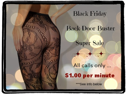 black friday phone sex sale
